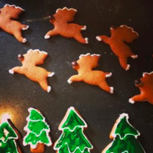 Gingerbread Trees & Reindeer